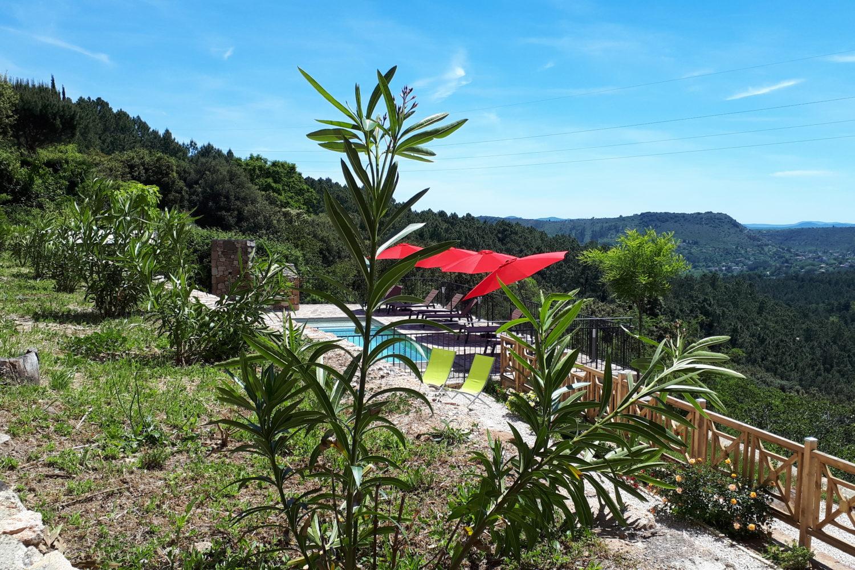 Espace piscine privé avec vue panoramique