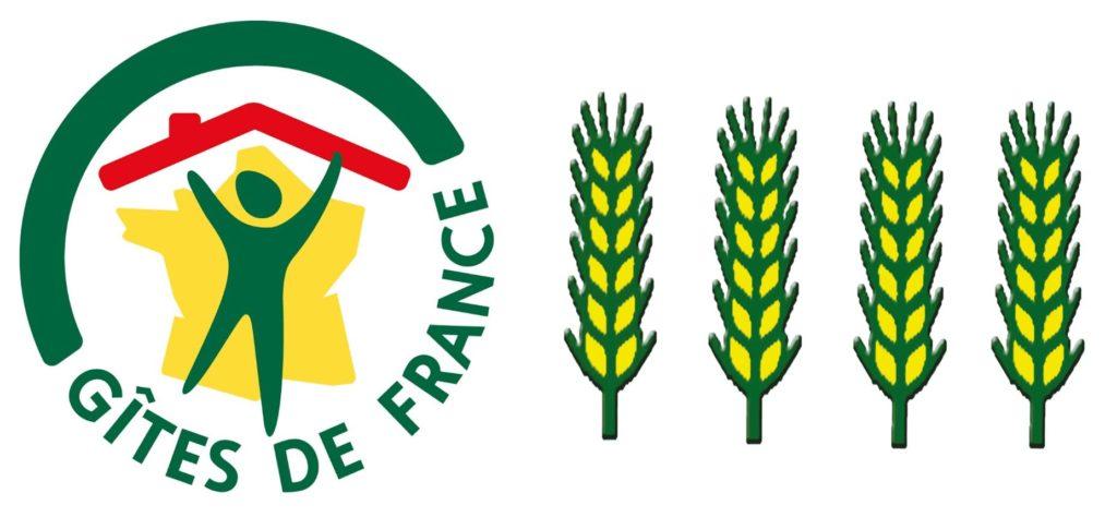 """Classificatie """"Gites de France"""" 4 épis"""