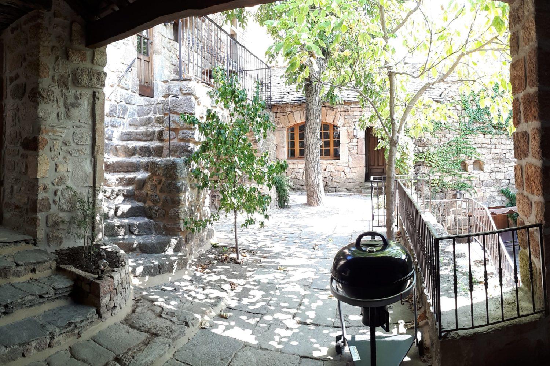 Les terrasses intérieures du gite