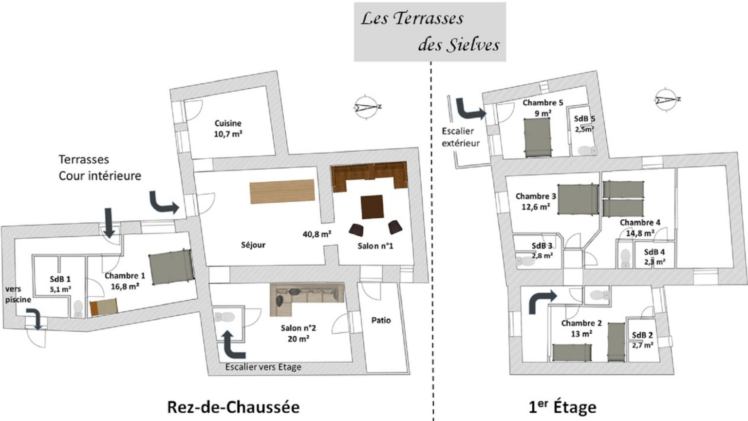 Les Terrasses des Sielves - Map of the premises