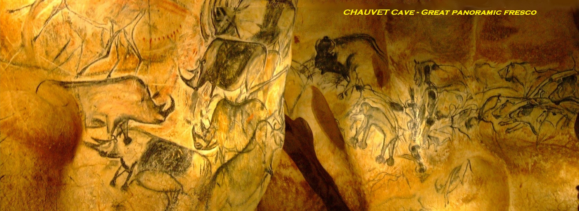 Chauvet Cave - Great Panoramic Fresco