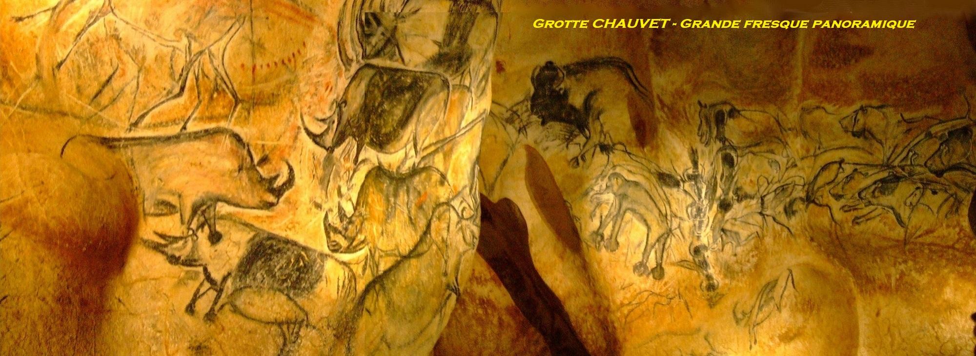 Grotte Chauvet - Grande Fresque panoramique