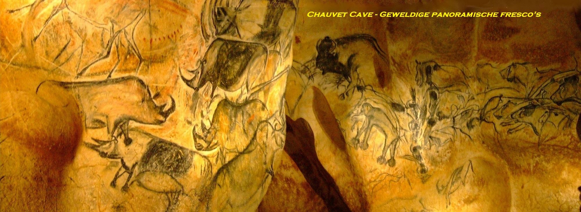 Chauvet Cave - Geweldige panoramische fresco's