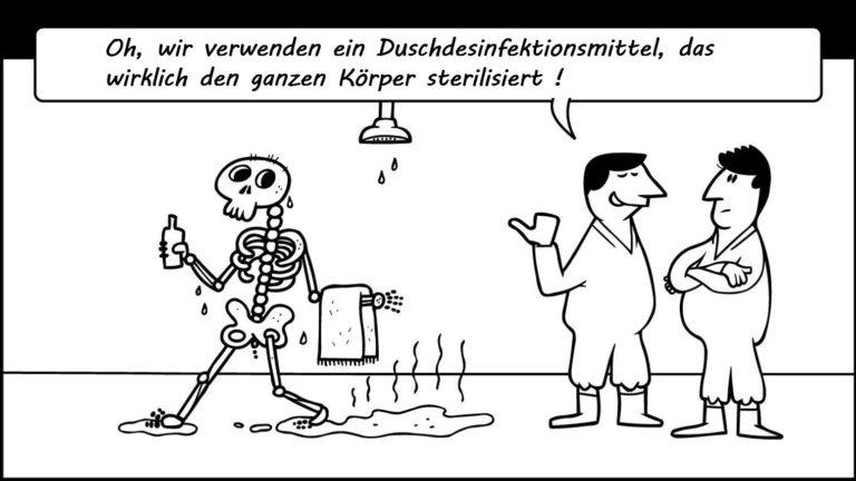 Humor - Desinfektion