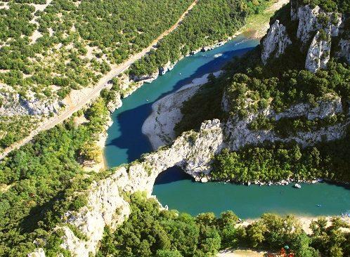 Ardèche - Pont d'Arc vue du ciel