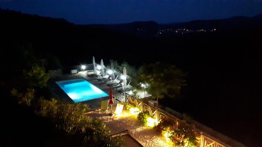 Panorama Piscine - Nuit